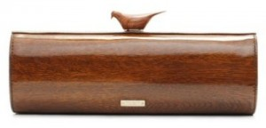 Kate Spade all wood cuckoo clutch